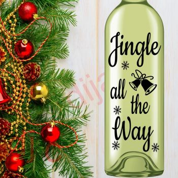 JINGLE ALL THE WAY8 x 17.5 cm decal