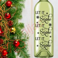 LET IT SNOW (D1)<br>8 x 17.5 cm decal