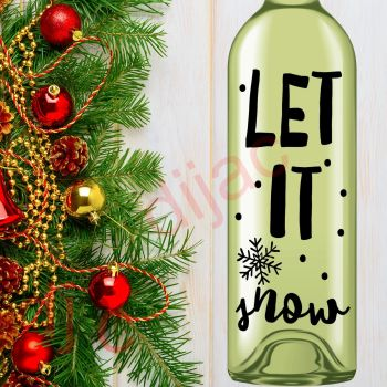 LET IT SNOW (D3)8 x 17.5 cm decal
