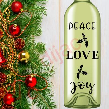 PEACE LOVE JOY (D1)8 x 17.5 cm decal