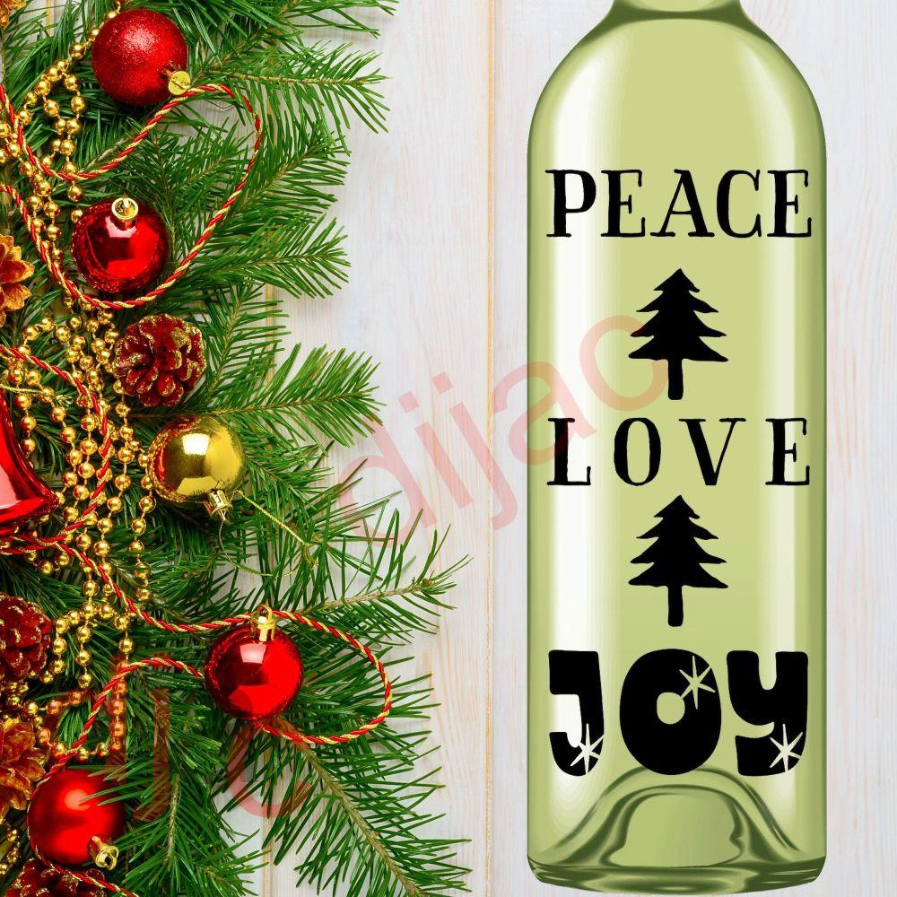 PEACE LOVE JOY (D2)8 x 17.5 cm decal