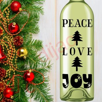 PEACE LOVE JOY (D2)8 x 17.5 cm decal
