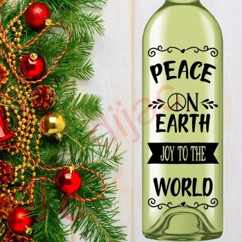 PEACE ON EARTH JOY TO THE WORLD8 x 17.5 cm decal