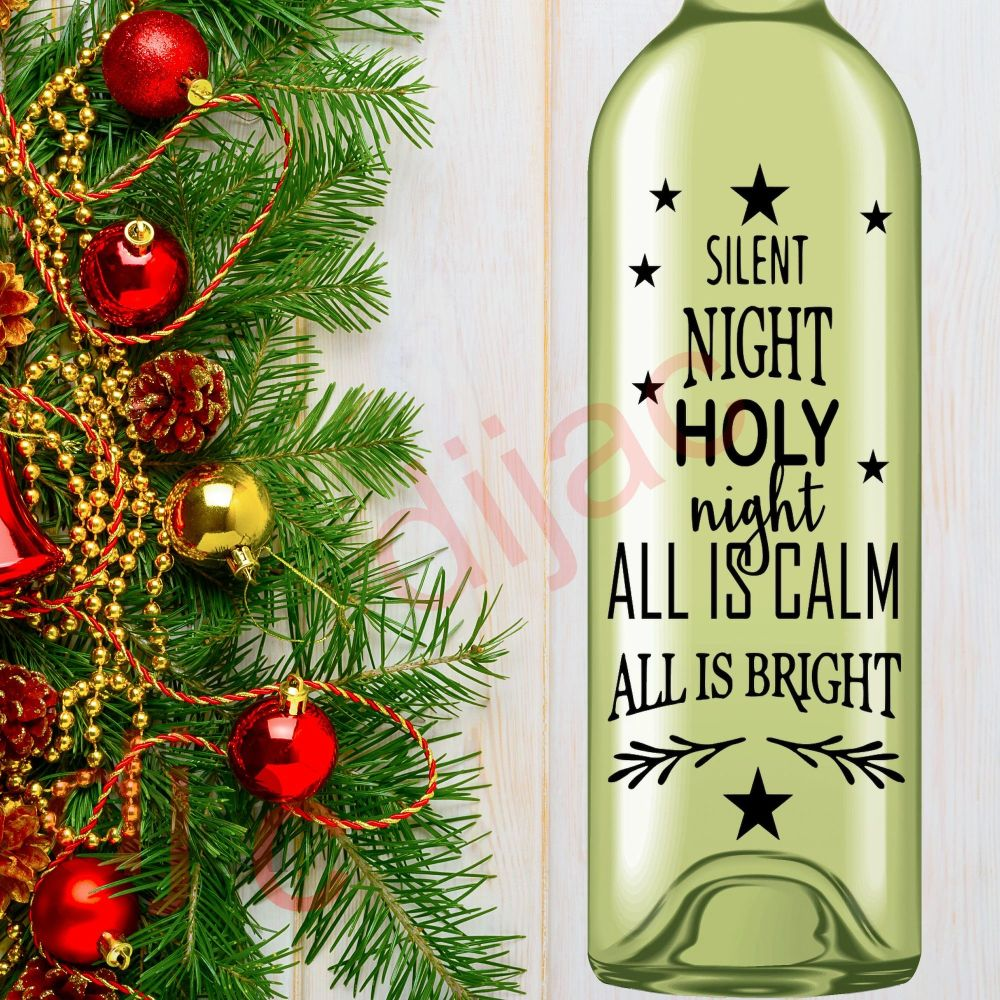 SILENT NIGHT HOLY NIGHT<br>8 x 17.5 cm decal