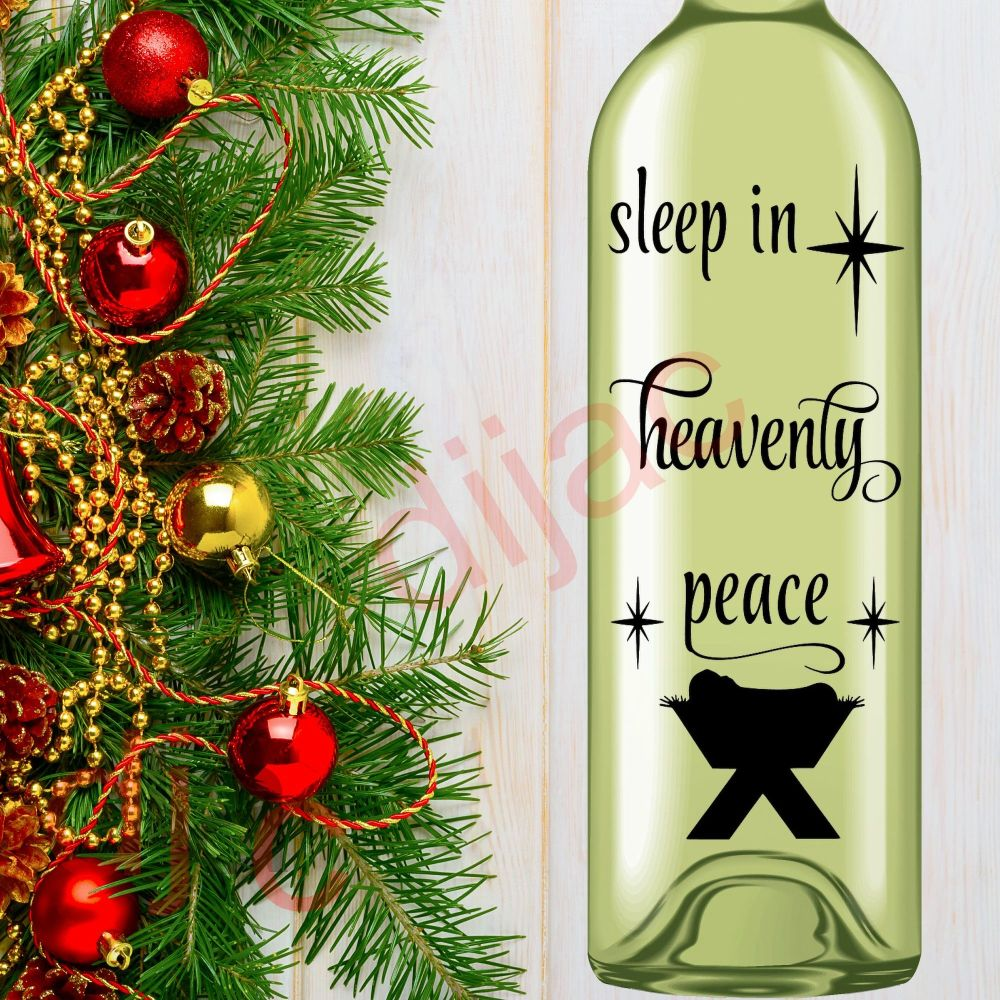 SLEEP IN HEAVENLY PEACE<br>8 x 17.5 cm decal