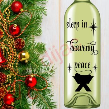 SLEEP IN HEAVENLY PEACE8 x 17.5 cm decal