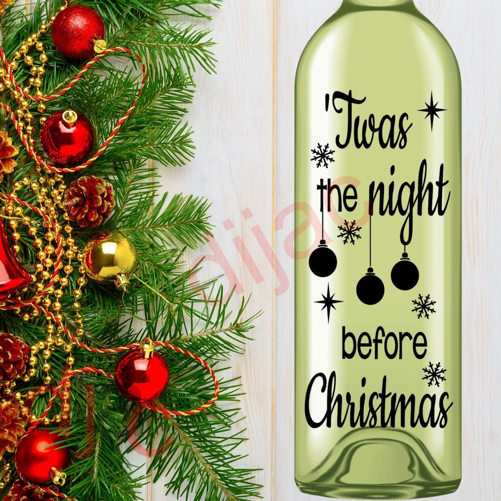 TWAS THE NIGHT BEFORE CHRISTMAS<br>8 x 17.5 cm decal