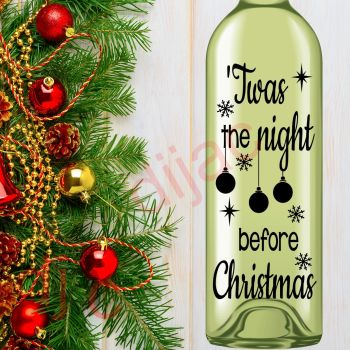 TWAS THE NIGHT BEFORE CHRISTMAS8 x 17.5 cm decal
