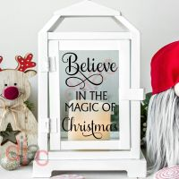 BELIEVE IN THE MAGIC OF CHRISTMAS<br>2 part decal<br>9 x 13 cm