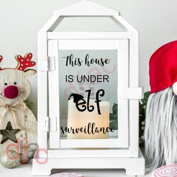 THIS HOUSE IS UNDER ELF SURVEILLANCE2 part decal9 x 13 cm