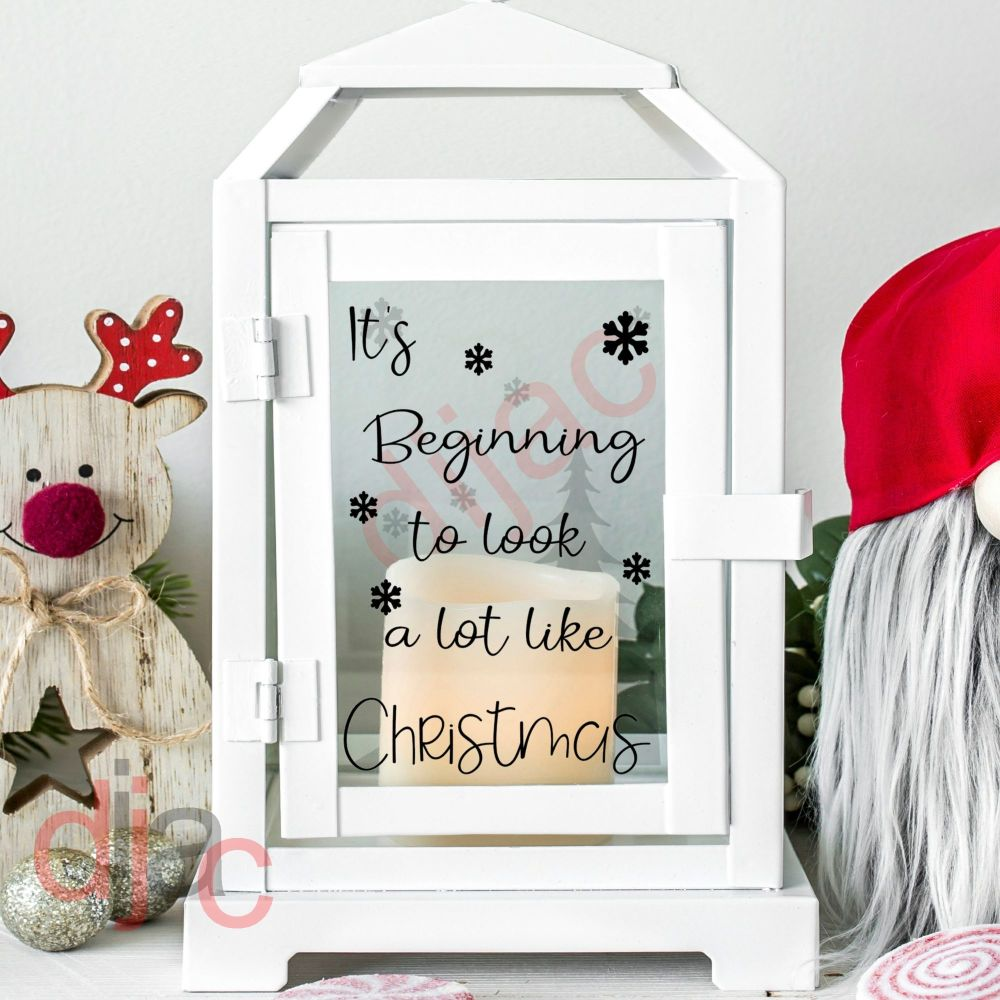 IT'S BEGINNING TO LOOK A LOT LIKE CHRISTMAS2 part decal9 x 13 cm