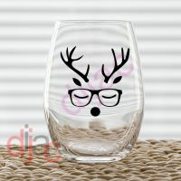 REINDEER BOY<br>7.5 x 7.5 cm decal