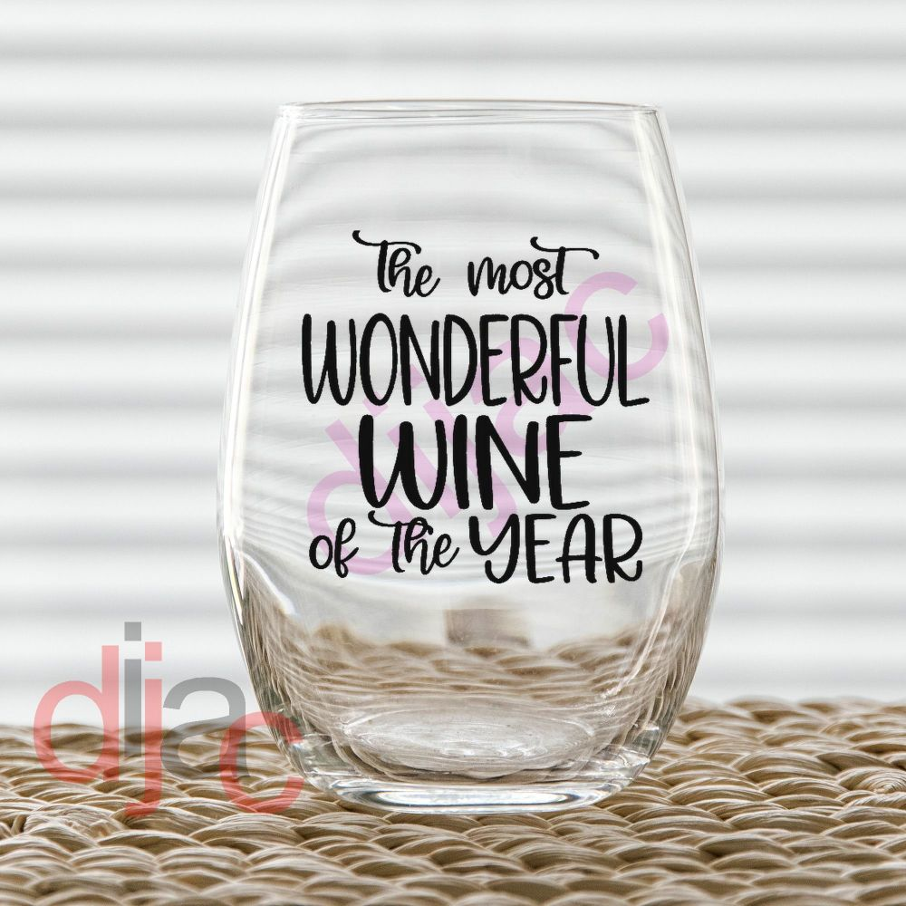 THE MOST WONDERFUL WINE OF THE YEAR<br>7.5 x 7.5 cm decal