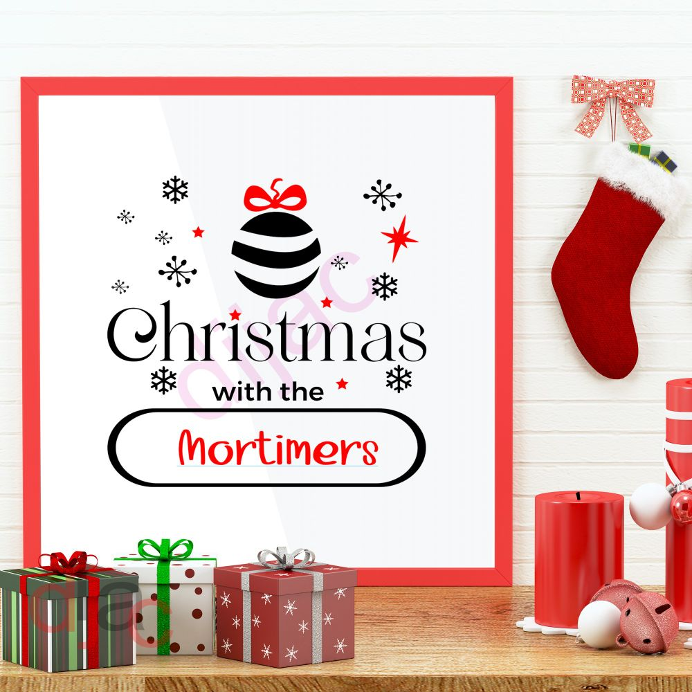 CHRISTMAS LARGE DECALS PERSONALISED