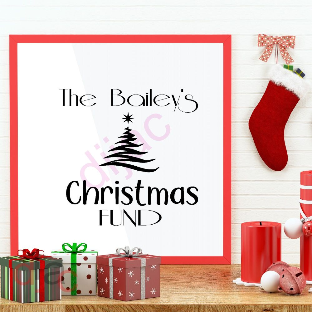 CHRISTMAS FUND<br>Personalised decal<br>15 x 15 cm