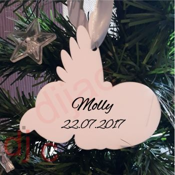 BABY MEMORIALPersonalised ACRYLIC ANGEL BABY DECORATION