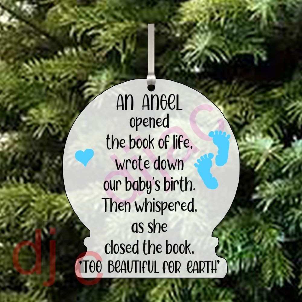 ANGEL IN THE BOOK OF LIFE (M)<br>Personalised<br>10cm ACRYLIC SNOW GLOBE