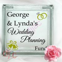 WEDDING PLANNING FUND (D1)<br>GLASS MONEY BOX