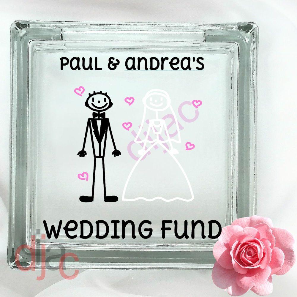 WEDDING PLANNING FUND (D2)GLASS MONEY BOX