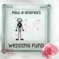 WEDDING PLANNING FUND (D2)<br>GLASS MONEY BOX
