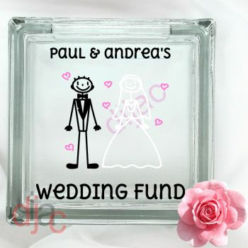 WEDDING PLANNING FUND (D2)GLASS MONEY BOX