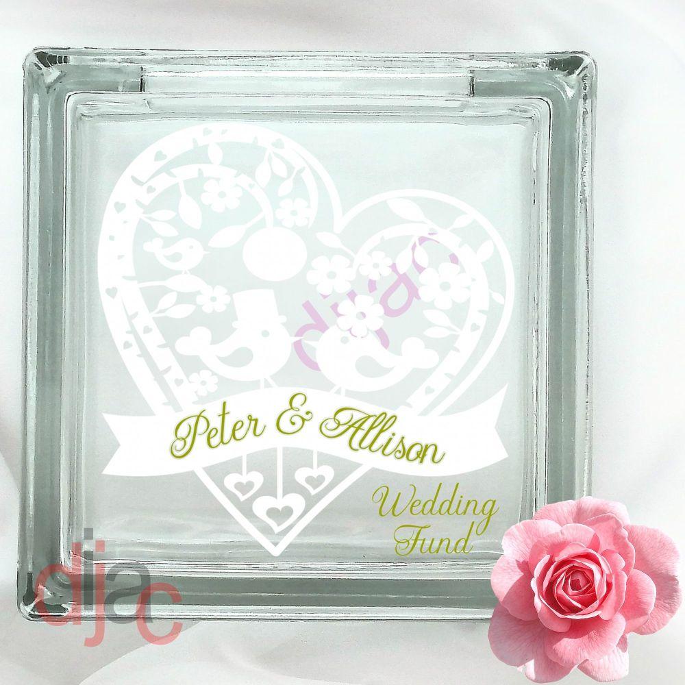WEDDING PLANNING FUND (D3)GLASS MONEY BOX