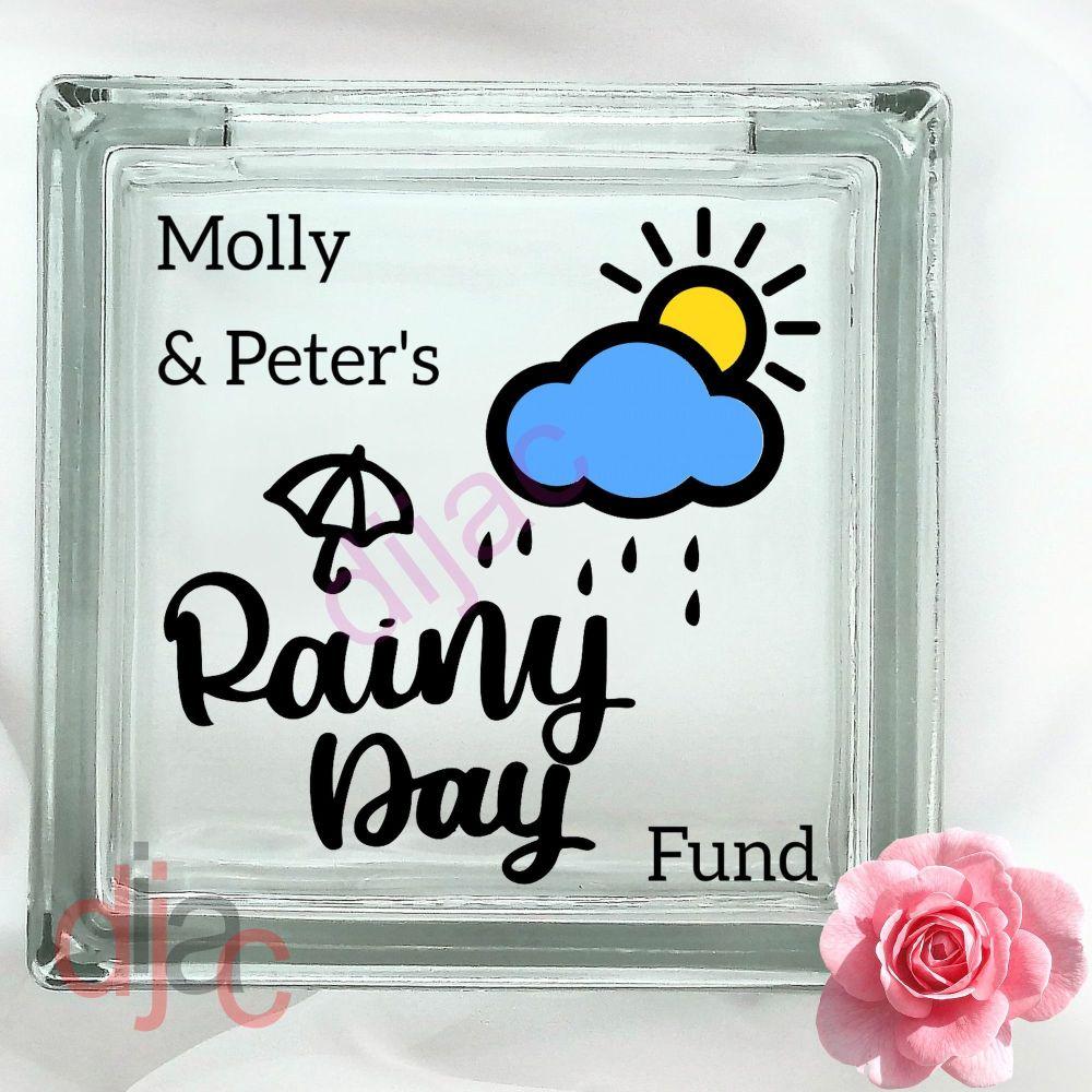RAINY DAY FUNDGLASS MONEY BOX