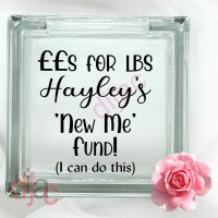 NEW ME WEIGHT LOSS FUND<br>GLASS MONEY BOX