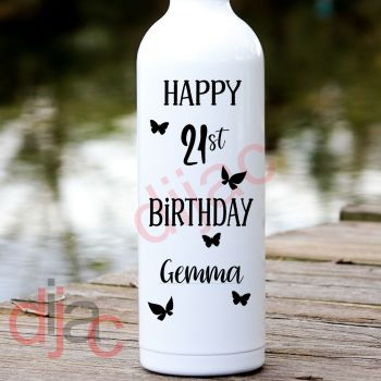 HAPPY BIRTHDAY (D4)PERSONALISED8 x 17.5 cm