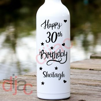 HAPPY BIRTHDAY (D5)PERSONALISED8 x 17.5 cm