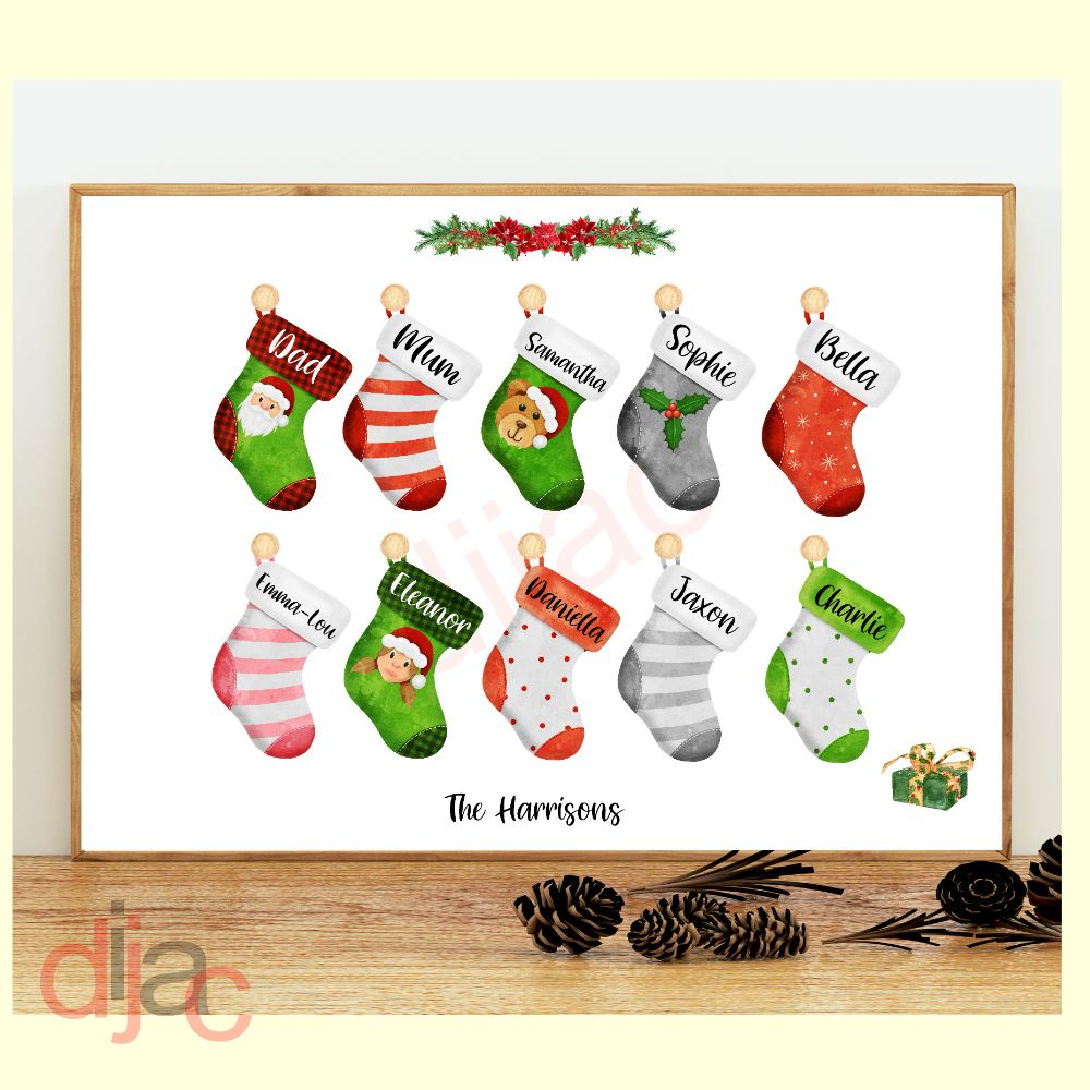 Christmas Stocking Print (D2)