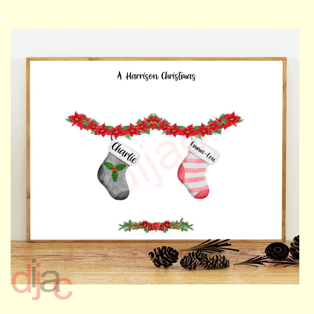 CHRISTMAS STOCKING (D2) FAMILY PRINT