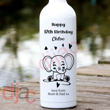 HAPPY BIRTHDAY ELEPHANTPERSONALISED8 x 17.5 cm