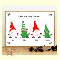 <!-- 002 -->4 CHARACTER CHRISTMAS GNOMES (D1) FAMILY PRINT