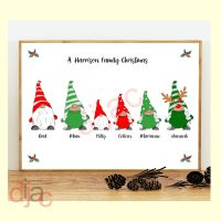 <!-- 004 -->6 CHARACTER CHRISTMAS GNOMES (D1) FAMILY PRINT