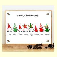 <!-- 006 -->8 CHARACTER CHRISTMAS GNOMES (D1) FAMILY PRINT