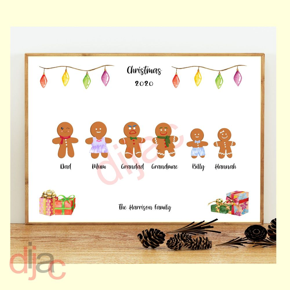 <!-- 004 -->6 CHARACTER GINGERBREAD FAMILY PRINT