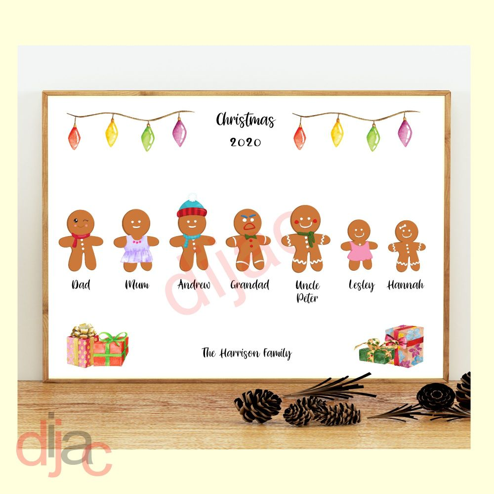 <!-- 005 -->7 CHARACTER GINGERBREAD FAMILY PRINT