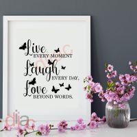LIVE LAUGH LOVE<br>15 x 15 cm