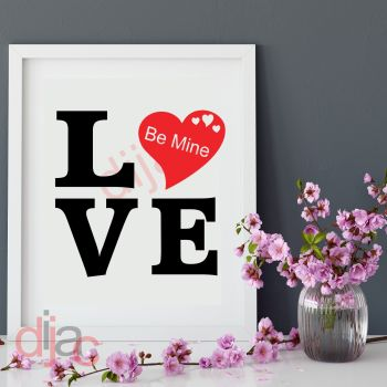 LOVE BE MINE15 x 15 cm