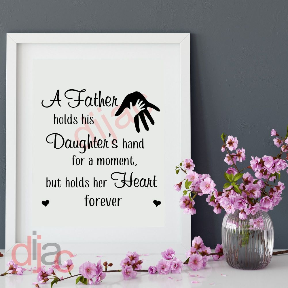 A FATHER HOLDS HIS DAUGHTER'S HAND<br>15 x 15 cm