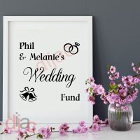 WEDDING FUND<br>PERSONALISED<br>15 x 15 cm