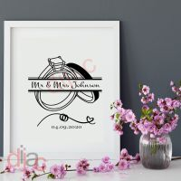 WEDDING DAY DECAL (D1)<br>PERSONALISED<br>15 x 15 cm
