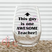 AWESOME TEACHER DECAL