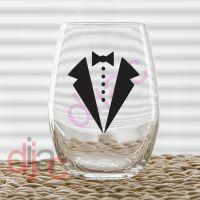 WEDDING PARTY TUXEDO VINYL DECAL