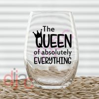 QUEEN OF EVERYTHING VINYL DECAL