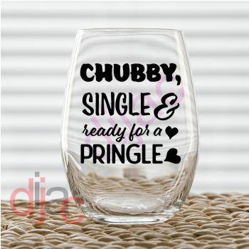 CHUBBY SINGLE READY FOR A PRINGLE7.5 x 7.5 cm