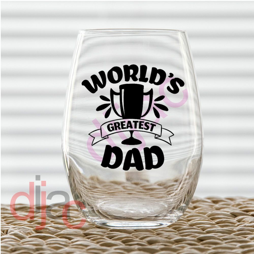 WORLD'S GREATEST DAD (D2) 7.5 x 7.5 cm