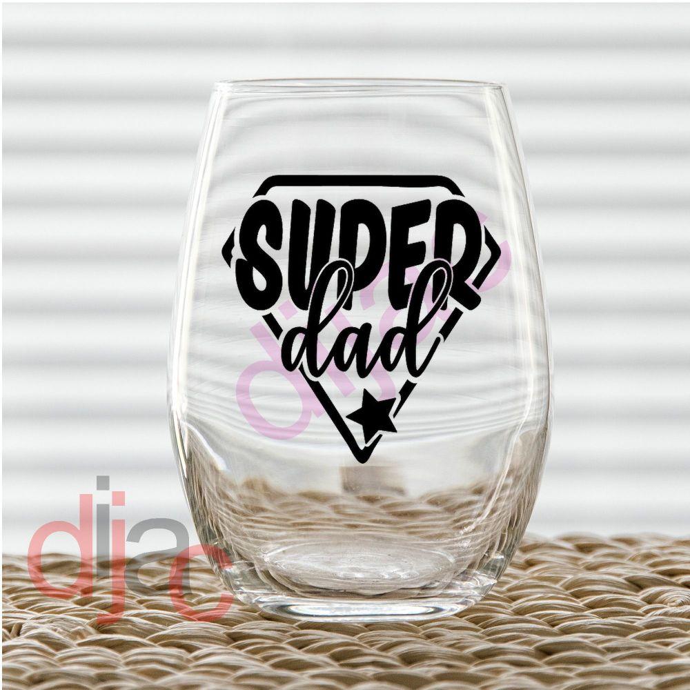 SUPER DAD (D2)7.5 x 7.5 cm