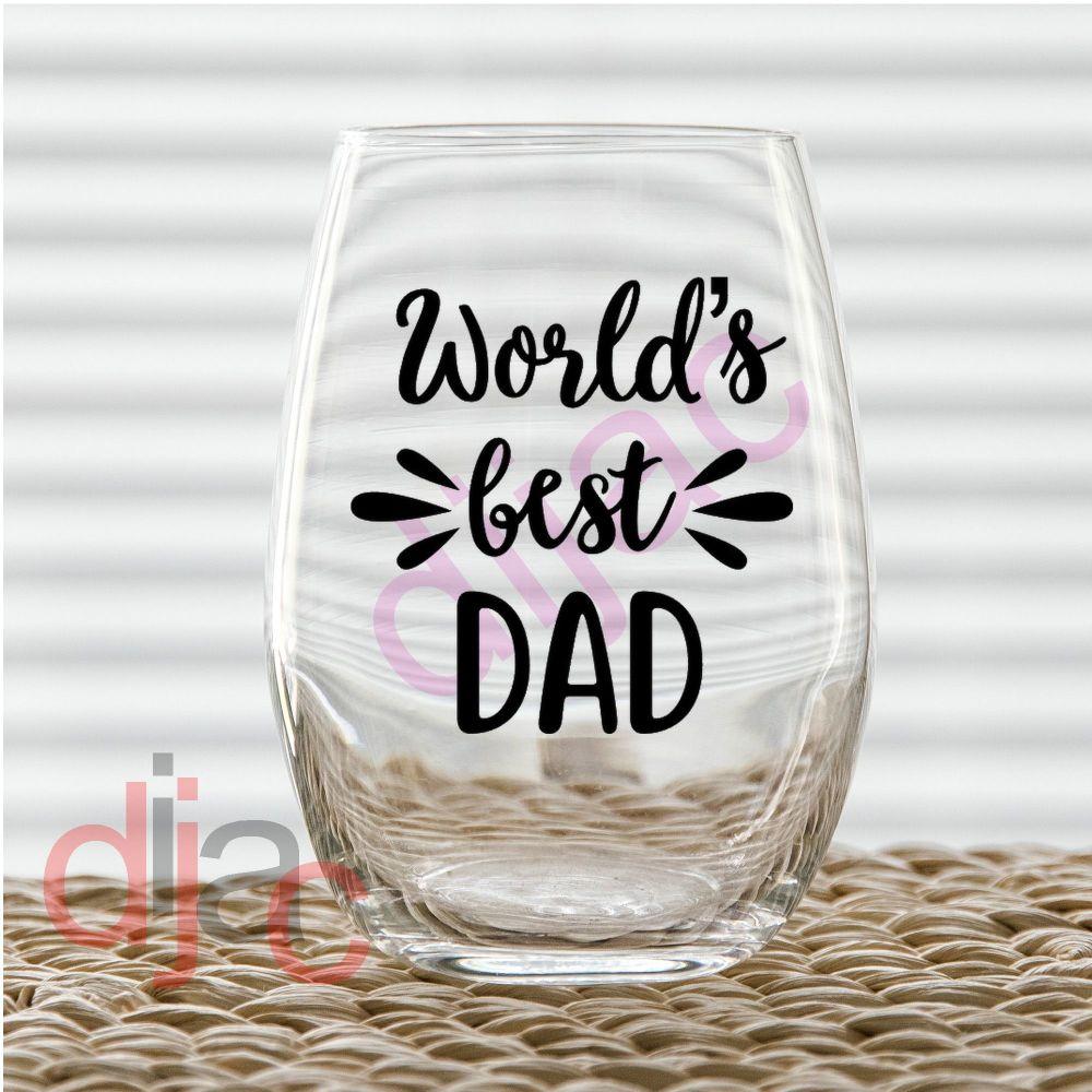 WORLD'S BEST DAD (D1)<br>7.5 x 7.5 cm